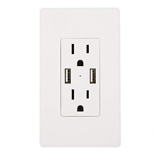 FOLOSAFENAR Identificación Inteligente Excelente Enchufe de Pared USB Cargador de Enchufe de Pared(Pack of 4 Fits Amazon Size)