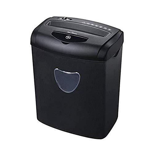 OhLt-j Cross-Cut Trituradora de Papel, 7-Hoja de Corte Transversal trituradora de Papel for la Oficina en casa y Pequeños asegurar Que su privacidad es No en Peligro,