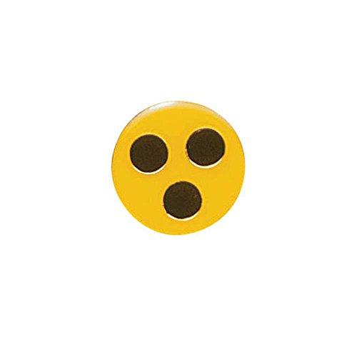 1x Behrend Blindenplakette, Blindenbutton, Blindenzeichen, Blindenanstecker, Blindensymbol, Metall, 3 cm