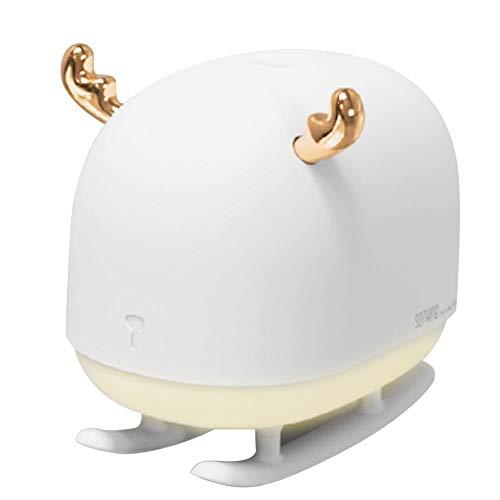 BCASE Mini Humidificador Ultrasónico, 260 Ml, Difusor Con Luz Nocturna De Forma Asta de Ciervo, Para Bebé, Yoga, Spa, Ideal Para Día de San Valentín y Cumpleaños.