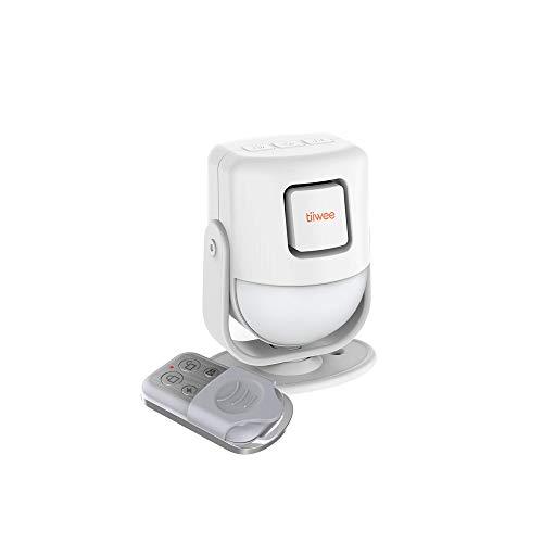 tiiwee X4 PIR Bewegungsmelder Alarm mit Fernbedienung - 125 dB - Erweiterbar - Alarmanlage Sicherheitstechnik Einbruchschutz - 2 Jahre Garantie