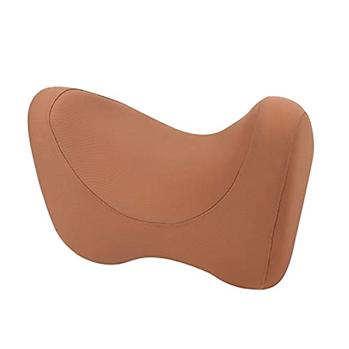 JHGJHG Almohada de Cuello de Coche Auto reposabezas de reposabrazos Soporte de la Memoria Soporte de Espuma de Espuma Almohada Almohada (Color : Brown)