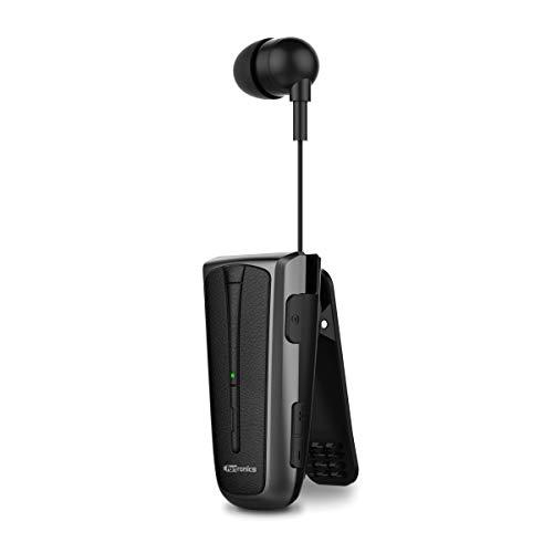 Portronics Harmonics Klip 4 Retractable Bluetooth Music & Calling Earphone (Black)