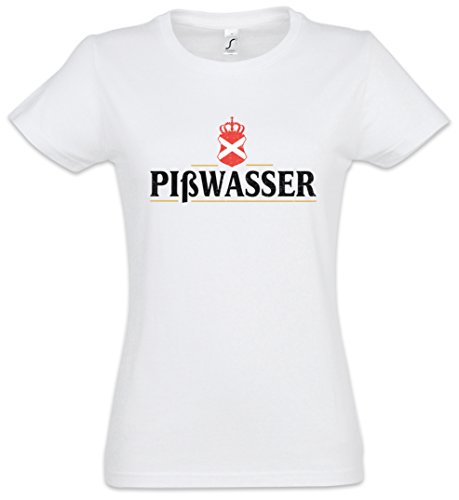 PIßWASSER Beer Damen T-Shirt – Brewery Brauerei Video Game Bier VG Fun Alcohol Stout White Trash Größen XS - 2XL