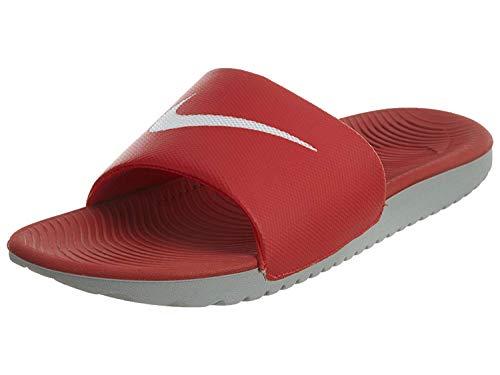 Nike Nike Herren Kawa Slide Sport Sandalen, Mehrfarbig (University Red/White/Wolf Grey 610), 47.5 EU