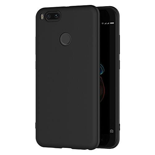 AICEK Xiaomi Mi 5X / Xiaomi Mi A1 Hülle, Schwarz Silikon Schutzhülle für Xiaomi Mi 5X Case TPU Bumper Xiaomi Mi 5X Handyhülle (5,5 Zoll)
