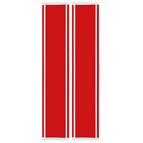 Par capa Hood Rally Rayas Auto Graphic Decal Vinyl Car Truck Universal (Color Name : Red)