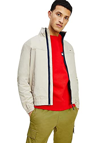 Tommy Jeans Tjm Essential Casual Bomber Giacca, Colore: Beige Chiaro, M Uomo