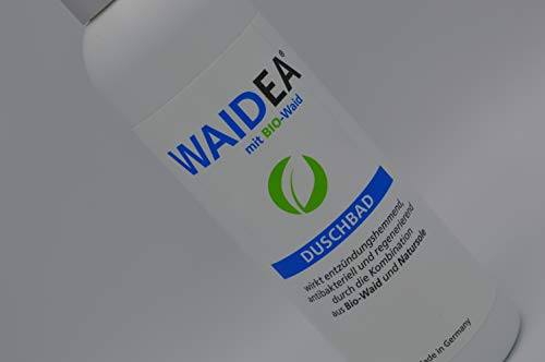 WAIDEA Duschbad mit BIO- Waid 200ml, Duschgel, für sensible, empfindliche Haut, Neurodermitis, Psoriasis, Problemhaut geeignet
