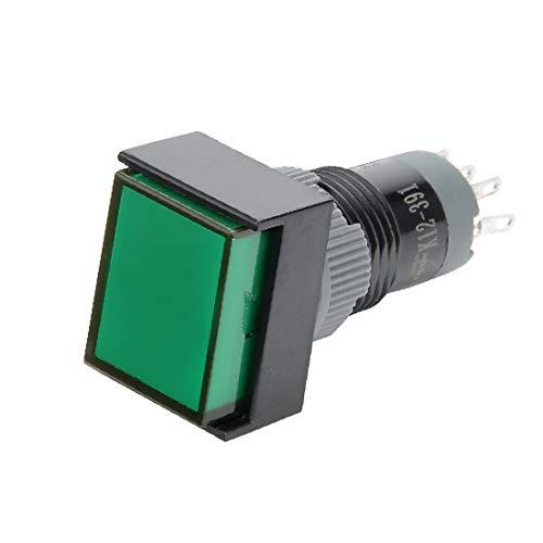 X-DREE 5 pines autoblocante rojo 12 mm Mini interruptor de botón AC 250V / 0.5A 125V / 1A (DC 24V LED Vert 8mm momentanée Filétage Mini Bouton poussoir Interrupteur SPDT 1NOÂ +1NC
