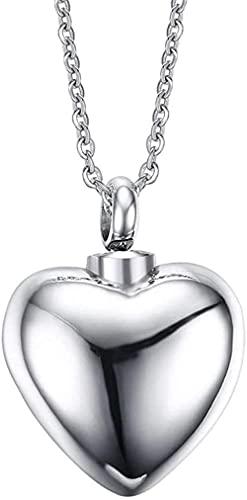 NC110 Colgante, Collar, Titanio, Acero, joyería Retro, Desmontable, Forma de corazón, Botella de Perfume literaria, Significado, joyería de Tendencia, YUAHJIGE