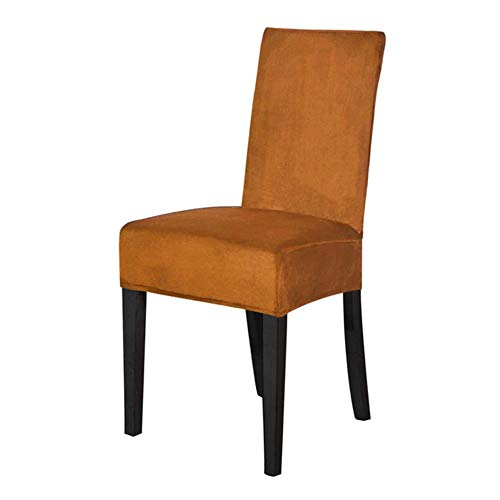 XCVB Krukhoes Fluwelen Eetkamerstoel Hoes Spandex Kantoor Eetkamerstoel Hoes Hoes stoel voor stoelen Elastische stretch, kameel
