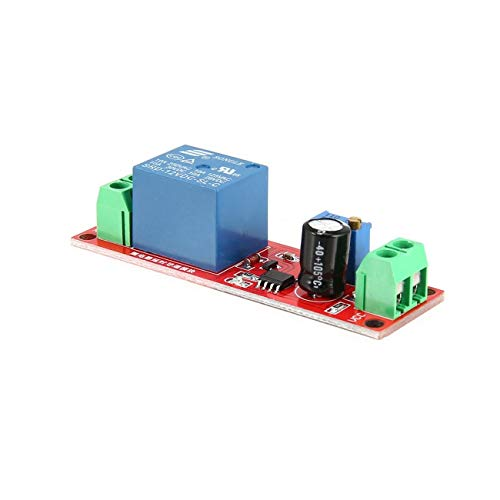 Ashley GAO Módulo de conducción de relé de retardo monoestable de CC 12 V Interruptor de disparador Temporizador de Escudo de tiempo ajustable Electrónica