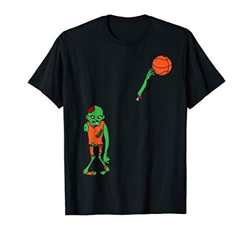 Zombie Basketball Costume Cute Easy Monster Halloween Gift T-Shirt
