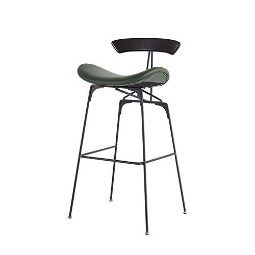 ZSIF bar stoel, smeedijzeren PP-zitting, Home dining stoel, hoge stoel, cafe stoel, bar stoel, geschikt voor: recepten, kasse, bar, 80 cm, 4 kleuren verkrijgbaar