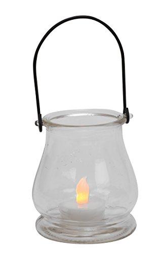 Biedermann & Sons Hanging Glass Bell Tealight Lanterns, Box of 6
