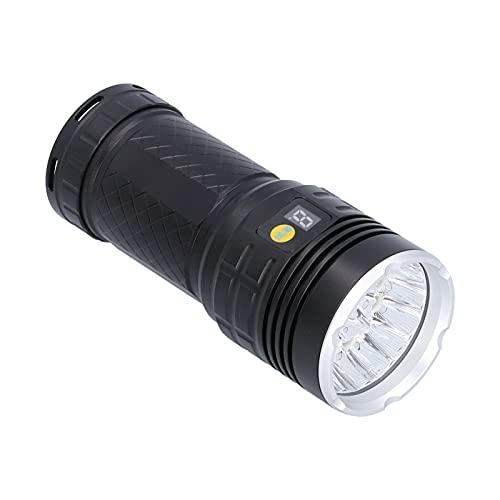 Alomejor Linterna de Mano LED Super Brillante 15000 lúmenes Linterna Familiar Linterna Recargable IP46 Linterna portátil al Aire Libre