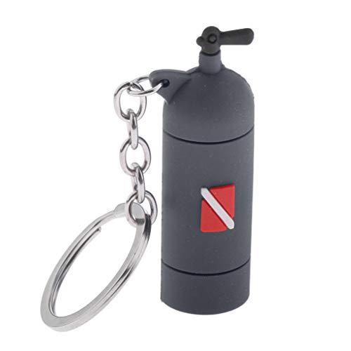 chiwanji Diving Tank Key Diving Air Cylinder Key Charm Diver Bag Tag Pendant - Gray