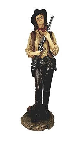 Grande Cowgirl Colt, Winchester Figura 49cm Cowboy Indios Western Decoración