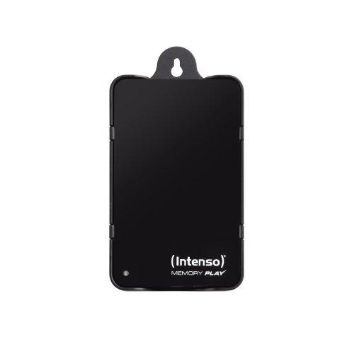 Intenso Memory Play 1TB externe TV-Festplatte (6,35 cm (2,5 Zoll), 5400rpm, 8MB Cache, USB 3.0) inkl. TV-Halterung schwarz