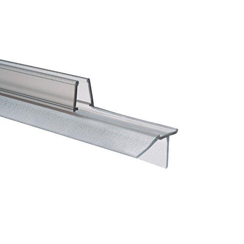 Schulte Dichtung Dusche Duschdichtung Schwallschutz Wasserabweiser Dichtlippe 8 mm 100 cm, 1 Stück, transparent, 4056397002222