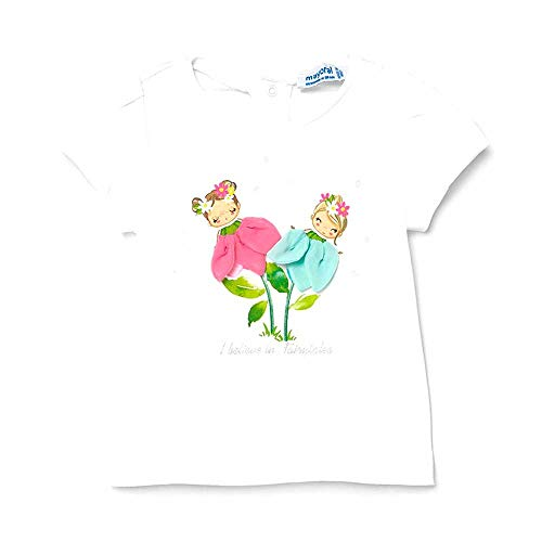 Mayoral Camiseta m/c Apliques Niña Blanco (18 Meses) ⭐