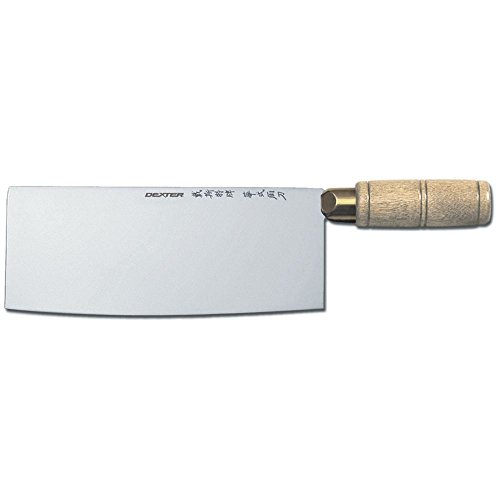"""Dexter Russell 5178 Traditional Wood Handle 8"""" Chinese Chef's Knife"""