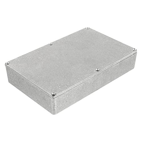 Holibanna 1590DD aluminio metal Stomp caja reemplazo guitarra efecto pedal caso 188x120x38mm palanca interruptor caja
