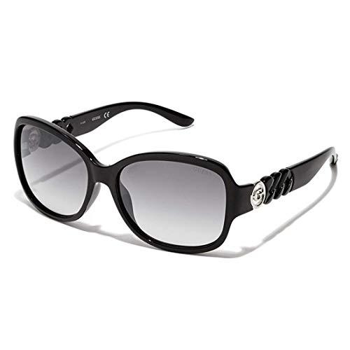 Guess GF600101C60 GF600101C60 Groß Sonnenbrille 52, Schwarz