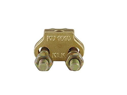 KLK - Grapa Para Toma De Tierra Unifilar Fabricada En Cobre. Válida Para Picas De Tierra De Hasta 15 mm De Diámetro. Tornillería De Acero Inoxidable. Modelo KU-1616