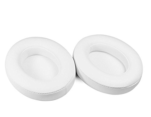 Synsen Replacement Earpad Cushions Compatible for Beats Studio 2.0 Wired/Wireless B0500/B0501,Sutdio 3.0 Over-Ear Headphones (Not for Solo or Studio 1st Gen Headphones) with ITIS Cable Clip (White) Photo #2