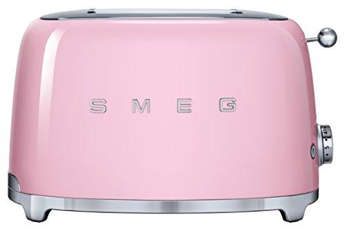 Smeg TSF01PKEU Toaster 2 Scheiben, cadillacpink