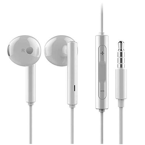 HUAWEI AM115, Auricolari con Telecomando in Linea P9.P8.Nexus 6P Honor 8.P9.Lite P8.Lite Honor 5.X e Più, Piccola, White