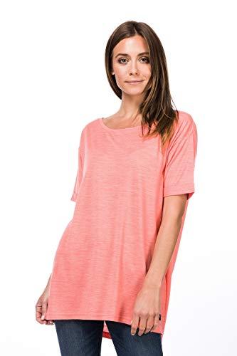 Super.Natural T-Shirt Large en Laine mérinos pour Femme - Taille L - Rose chiné