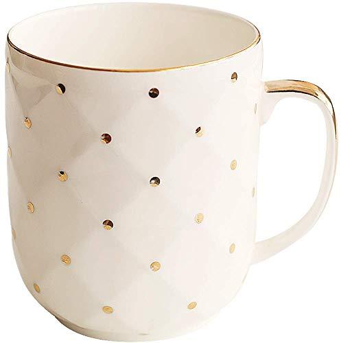 Coppa Albergo tazza caffè maschio punto dell'onda Femminile creativo porcellana ufficio tazza Caratteristica Bere vetro tazza di latte pratico Tazza di caffè 280ml bianco, Dimensione: 280ml, Colore: B