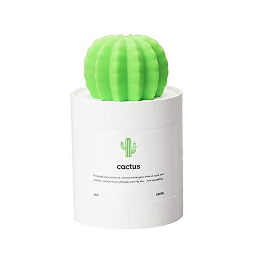 Nicetruc Cactus humidificador Blanca Ministerio del Interior USB Mini portátil de Vapor frío difusor purificador