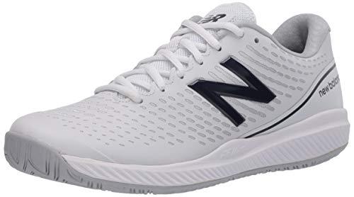 New Balance Women's 796 V2 Hard Court Tennis Shoe, White/Navy, 10 X-Wide
