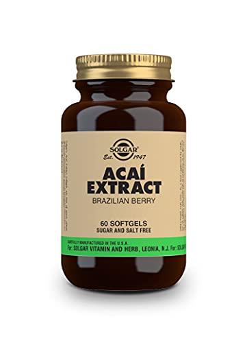Solgar Super Açaí Brazilian Berry, 50 Softgels - Superfood & Natural Antioxidant - Helps Fight Oxidative Stress - Non-GMO, Gluten Free, Dairy Free - 25 Servings