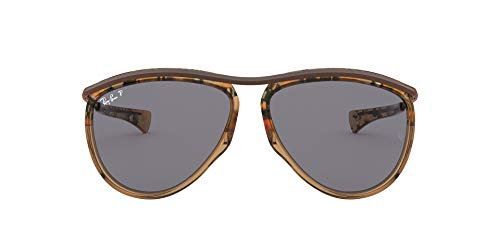 Ray-Ban Olympian Aviator Gafas, MARRON, 59 Unisex Adulto