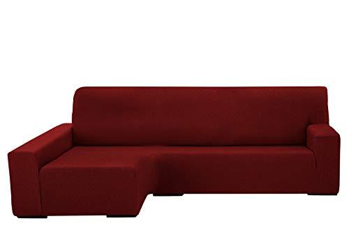 Martina Home Protection canapé avec Chaise Longue élastique Beirut, Rouge, Bras Gauche de 240 à 280 cm