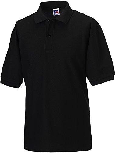 Russell Collection Klassisches Poloshirt aus Mischgewebe R-539M-0 XXL,Black