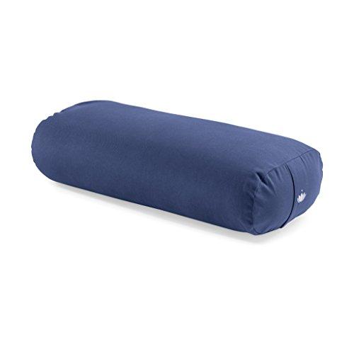 cuscino yoga bolster Lotuscrafts Bolster Yoga Rettangolare per Yin Yoga - Ripieno di Kapok - Rivestimento in Cotone Lavabile - Cuscino Yoga Bolster - Rullo per Yoga - Cuscino Rullo Yoga per Restorative Yoga