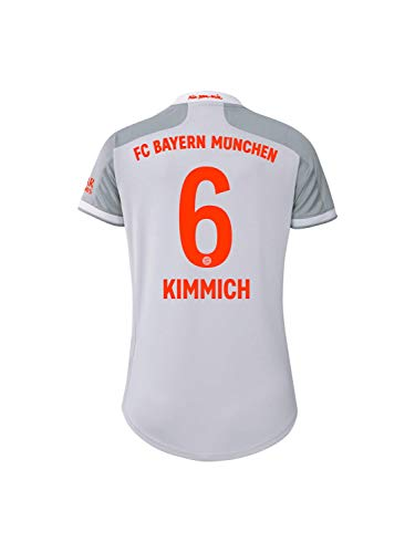 FC Bayern München Damen Away-Trikot Auswärts Saison 2020/21, Gr. L, Joshua Kimmich