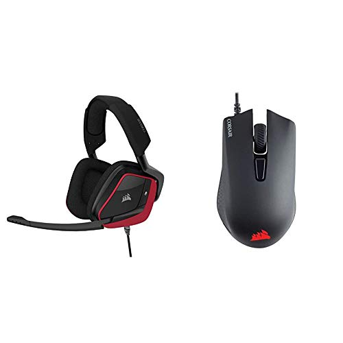 Corsair Void Elite Surround Premium Gaming Headset with 7.1 Surround Sound, Cherry and CORSAIR Harpoon PRO - RGB Gaming Mouse - Lightweight Design - 12,000 DPI Optical Sensor