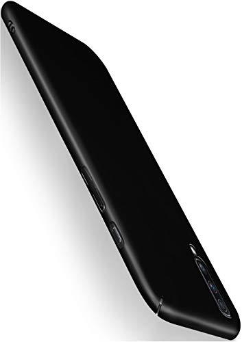 moex Alpha Hülle kompatibel mit Samsung Galaxy A50 / A30s - Hülle Ultra dünn, Handyhülle aus Hartplastik, Schutzhülle matt Hardcase, Schwarz