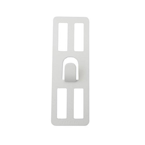 壁美人 ホチキスで取付壁掛けフック 石膏ボード用固定金具 P-4 ホワイト 痕が目立たない 2枚セット P-4Shw