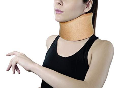 Ergonomisches Halsbandage/Nackenbandage, Beige - für Nackenstütze, Unterstützung für Wirbelsäule, lindert Schmerzen, reduziert Druck von der Wirbelsäule, S, M, L, XL, XXL, weich XX-Large (XXL)