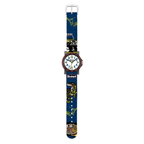SCOUT Jungen Analog Quarz Uhr mit Stoff Armband 280375016