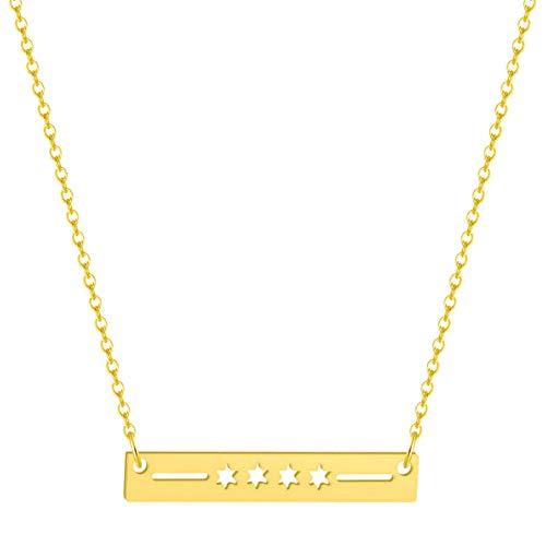 Gbrand Collares para Mujer Collar Hombre Joyas Collar Delicado Regalo de Fiesta de cumpleaños-Gold_Color