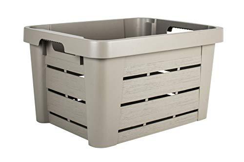 EDA Caisse DE Rangement WOOD'BOX 45 litres Couleur Taupe